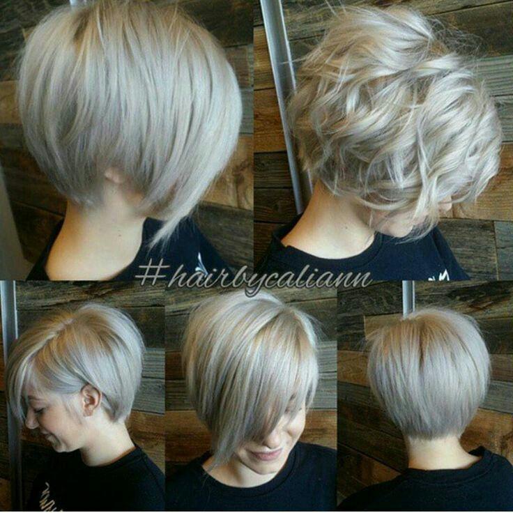 Tagli di capelli corti visti da dietro