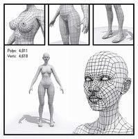 max generic male mesh human  3d model low poly, unity, maya, max
