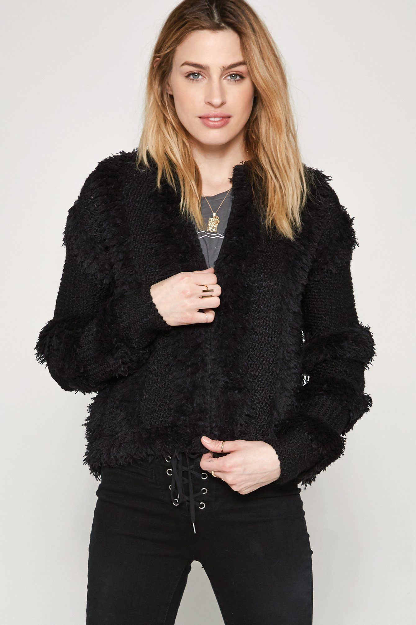 Chill Out Sweater Jacket Zip up sweater, Sweaters, Black