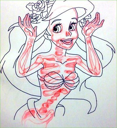Coloring Book Corruptions Mermaid Bones