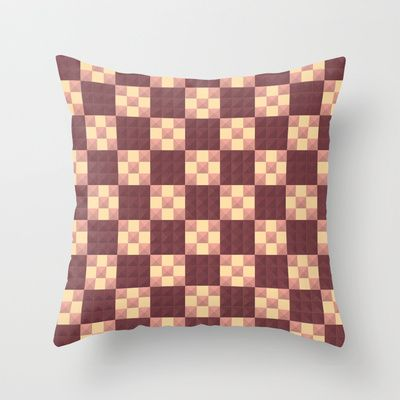 Quilt Throw Pillow by Lyle Hatch - $20.00