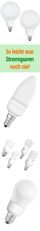 Mit unserem großen Sortiment an Energiesparlampen fällt Stromsparen besonders leicht. Gleich ausprobieren!