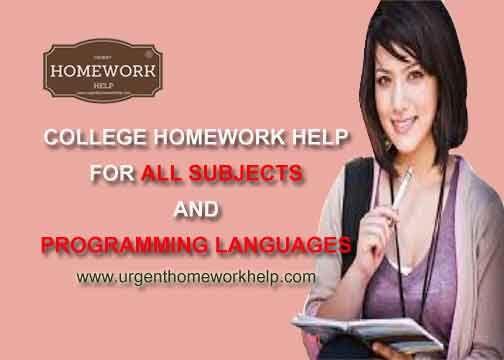 College homework help chat
