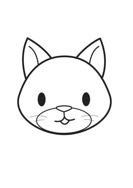 Dibujo Para Colorear Cabeza De Gato Dibujos Kawaii De Animales Animales Faciles De Dibujar Dibujos Para Colorear