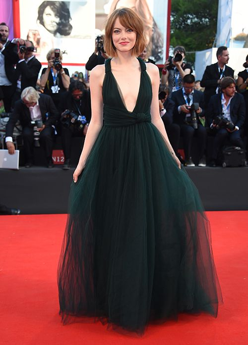Get Emma Stone's Gorgeous Green Valentino Gown from the Venice ...