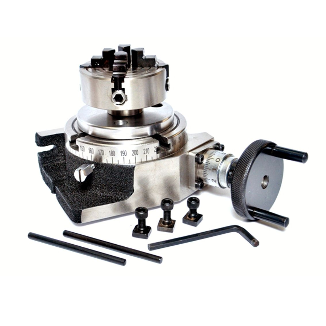 """70 MM INDEPENDENT CHUCK BACKPLATE ROTARY TABLE 3/"""" TILTING"""