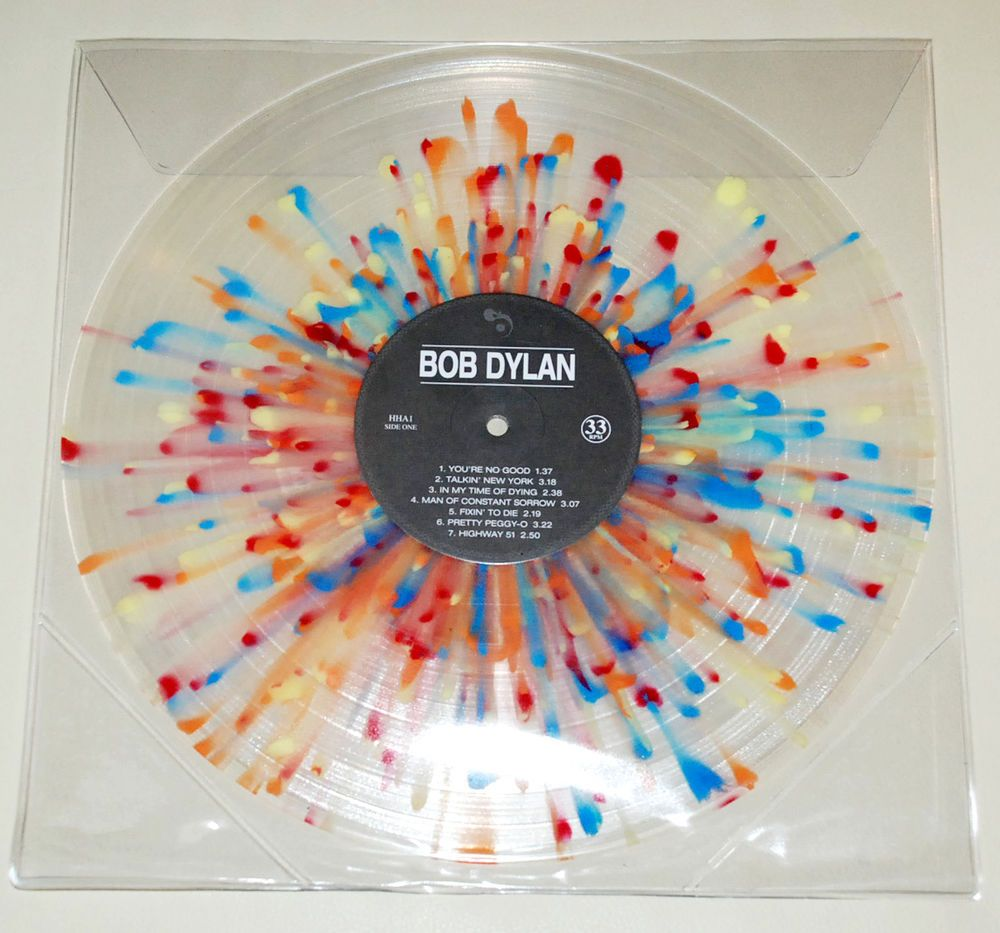 Bob Dylan 13 Tracks Compilation Lp Multicolored Clear Splatter Vinyl Record Nm Vinyl Records Bob Dylan Vinyl