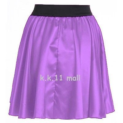Women Elastic Waist Mini Skirt Girl Pleated Retro Dress ^ Chiffon Short