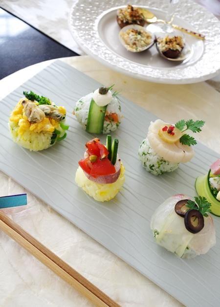 カラフルシーフード手まり寿司 手まり寿司 寿司 シーフード