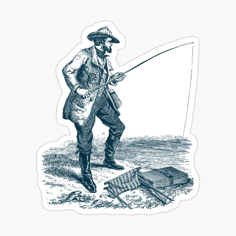 Get My Art Printed On Awesome Products Support Me At Redbubble Rbandme Https Www Redbubble Com I Sticker Fishing In 2020 Fish Design Fisherman Gifts Sport Fishing