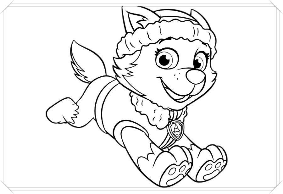 Los Mas Lindos Dibujos De Patrulla Canina Para Colorear Y Pintar A Todo Color Imagenes Pronta Paw Patrol Coloring Pages Paw Patrol Coloring Everest Paw Patrol