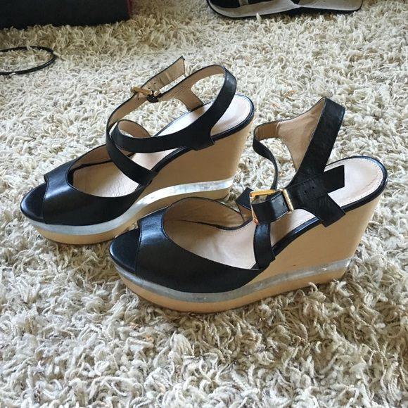 Aldo wedges Wedges with partial clear platform. ALDO Shoes Wedges
