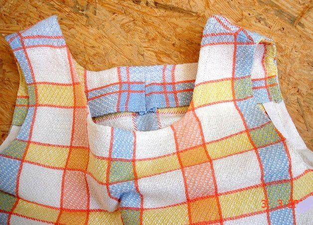 Hängerchen & Tuniken - Hängerchen Strandkleid, Vintage-Leinen Kleid, bunt - ein Designerstück von Talaura bei DaWanda
