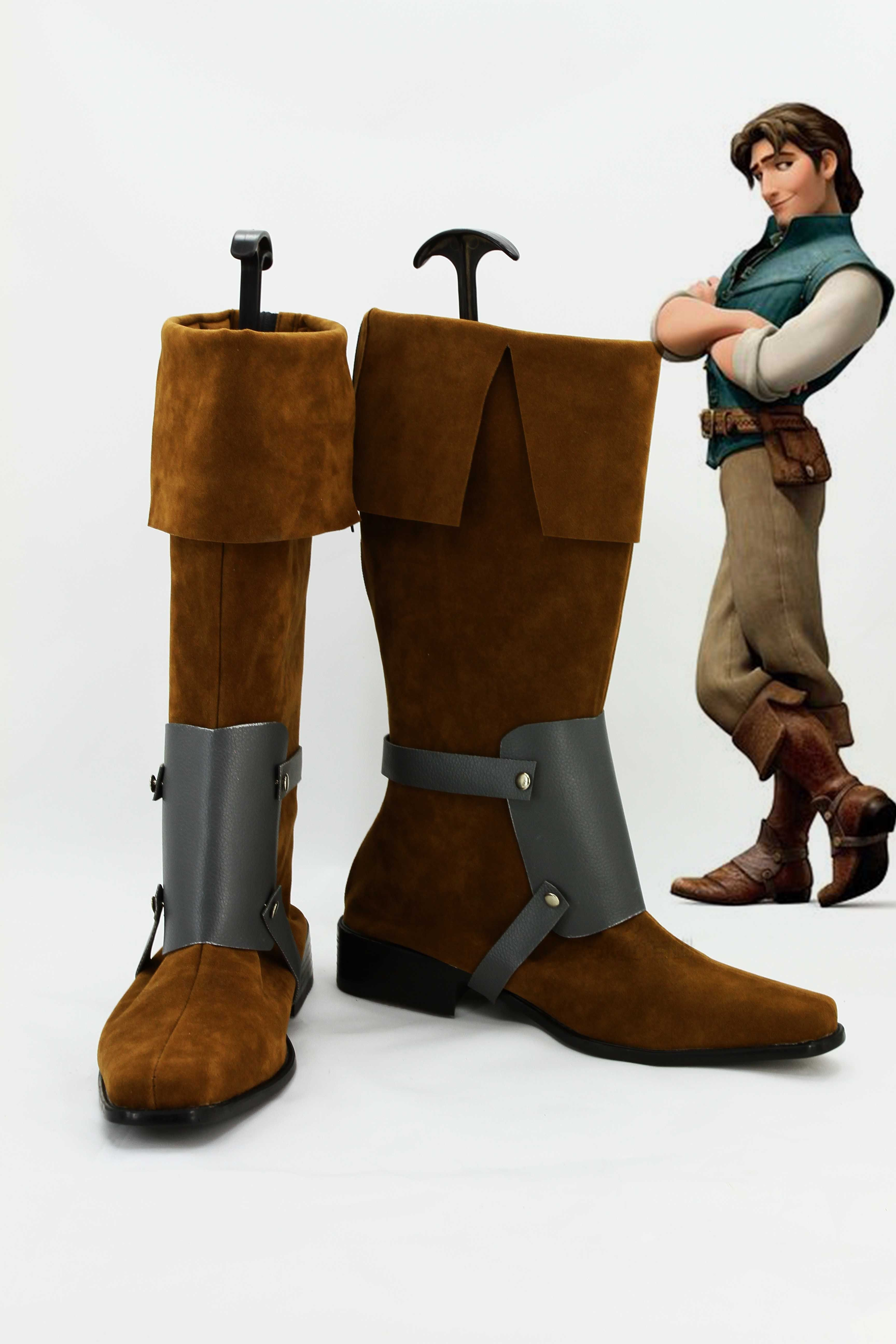 2697b6f97cec0 Disney Tangled Prince Flynn Rider Cosplay Boots Costume from Tangled ...