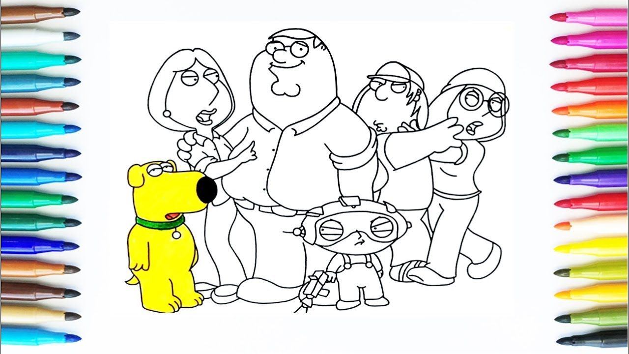 How To Draw Family Guy | Drawing and Coloring Pages for Kids | Art ...