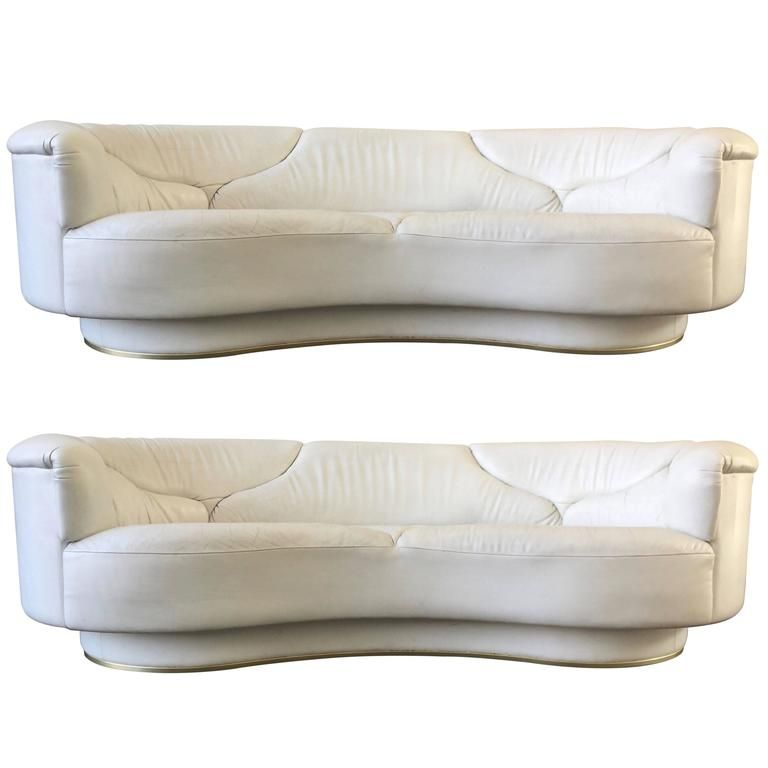 Magnificent High Quality Sofas In White Leather De Sede Milo Baughman Gamerscity Chair Design For Home Gamerscityorg