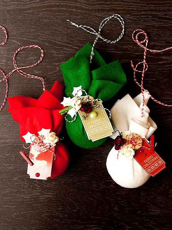 Christmas Felt Craft Ideas Part - 45: Christmas Crafting DIY Felt Baubles