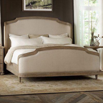 Hooker Furniture Corsica Wingback Upholstered Shelter Bed - HOOK2278
