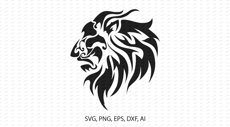Lion Print Svg Lion Decal Digital Png Lion Vinyl Vector Eps Etsy Lion Print Lion Silhouette Lion Tattoo Design