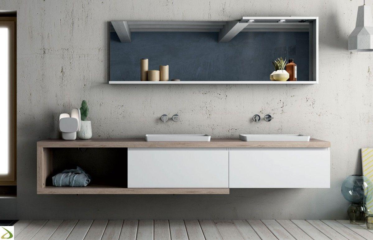 Bagno di design con doppio lavabo Arredamento bagno