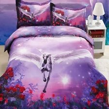 Duvet Cover Set for UK DOUBLE US TWIN BED by David Penfound AWESOME UNICORN