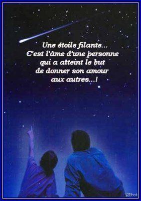 Etoile filante | Stars | Citation étoile, Citations Inspirantes et