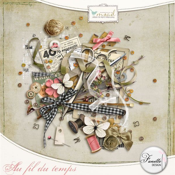 Au fil du temps [fdesign_k_afdt] - €1.95 : My Scrap Art Digital, Passion for Digital Scrapbooking