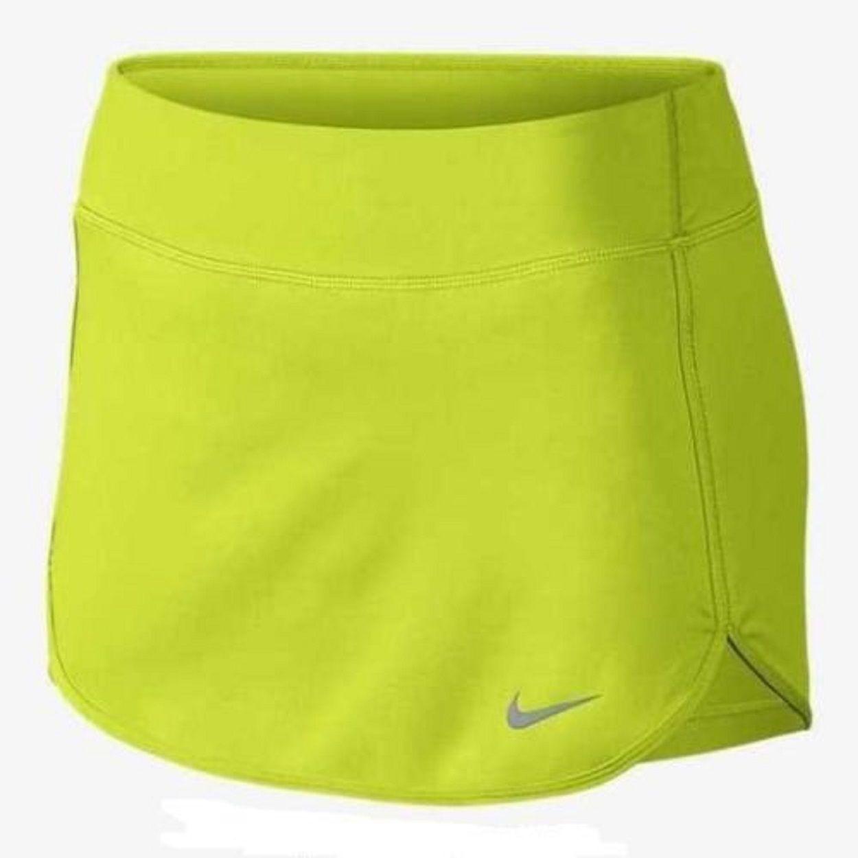 Details About Nwt Nike Women S Drifit Straight Court Knit Tennis Skirt Cyberlime 646167 382 Tennis Skort Nike Women Tennis Skirt
