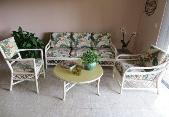 Best Vintage Rattan Bamboo Furniture Set 4 Piece Palm Beach 400 x 300