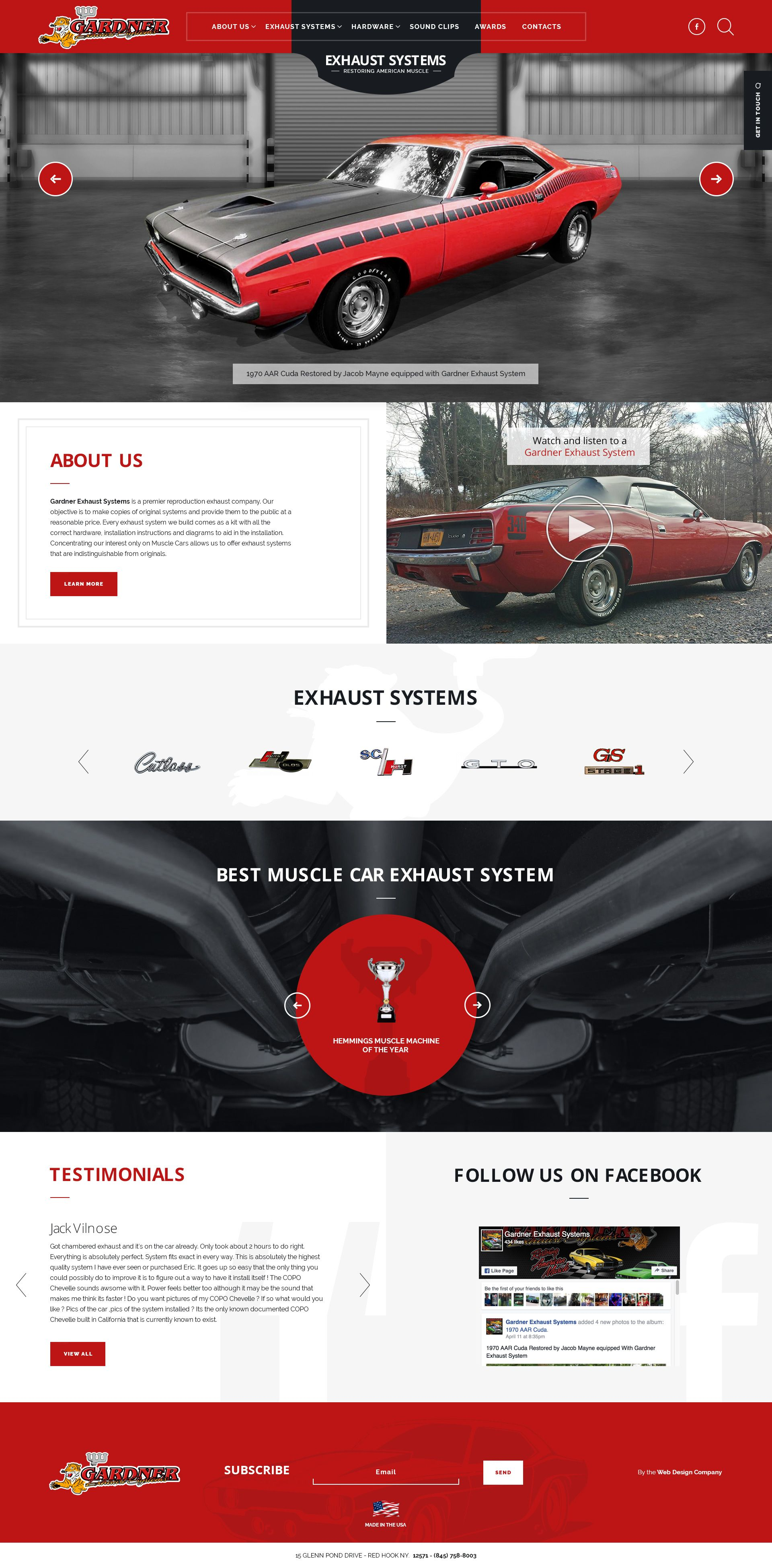Car Auto Web Design For Muscle Car Exhaust Systems Web Design Muscle Car Exhaust Web Design Websites