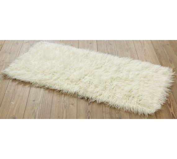 buy home faux flokati rug natural at argoscouk visit argos