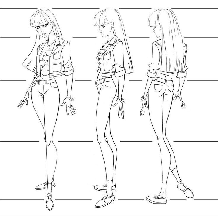 Basic Character Design Tips : Sketch woman body graphics s