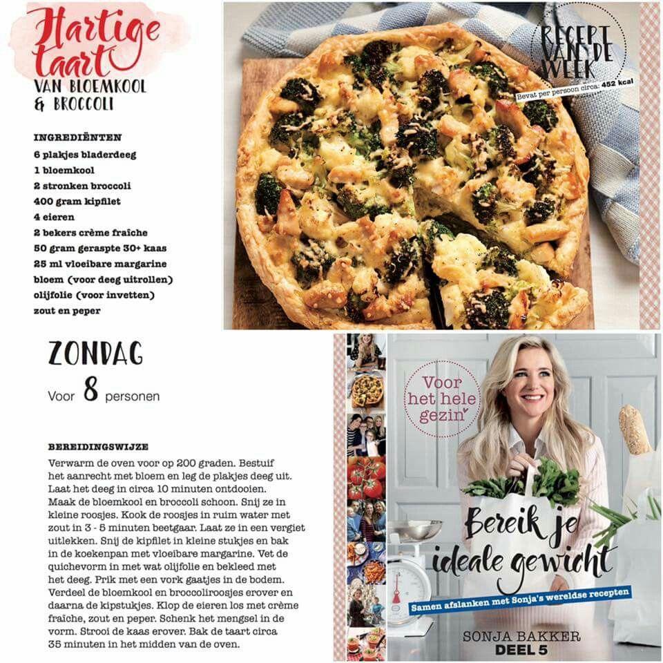 hartige taart light Hartige taart van broccoli & bloemkool | Sonja Bakker recepten  hartige taart light