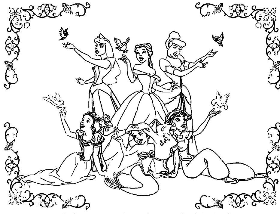 Disney Princess Coloring Pages Download : Download all disney princesses free coloring pages to