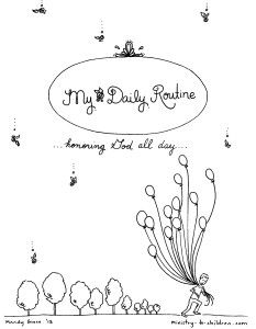 Daily Routine Coloring Book For Children 5 Pages Free PDF