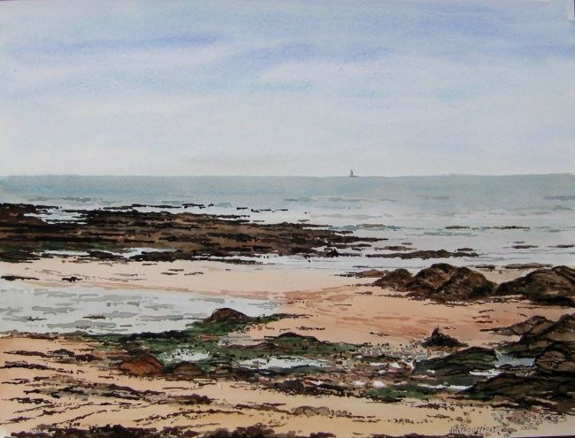 Aquarelle Rochers Mer Aquarelles Bords De Mer Henry Pierre