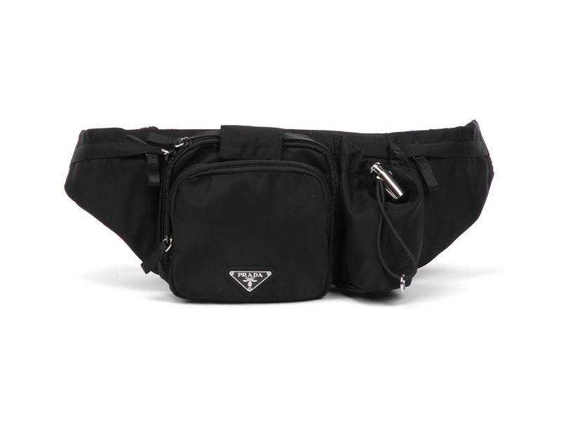 Prada VA0056 Black Belt Bags on Sale