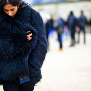 Madly in love with this blue fur