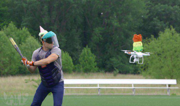 Un drone piñata? Descubre de qué se trata en este video