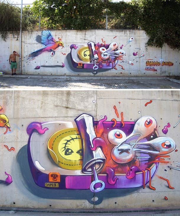Still Hungry – Street Art and Illustrations by ERASE