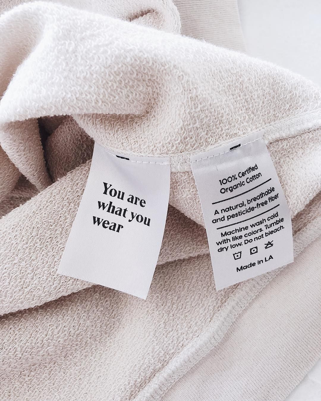 It S Recommended To Wash Your New Synthetic Polyester Clothes Up To Three Times Before Yo Clothing Packaging Clothing Labels Design Branding Design Packaging