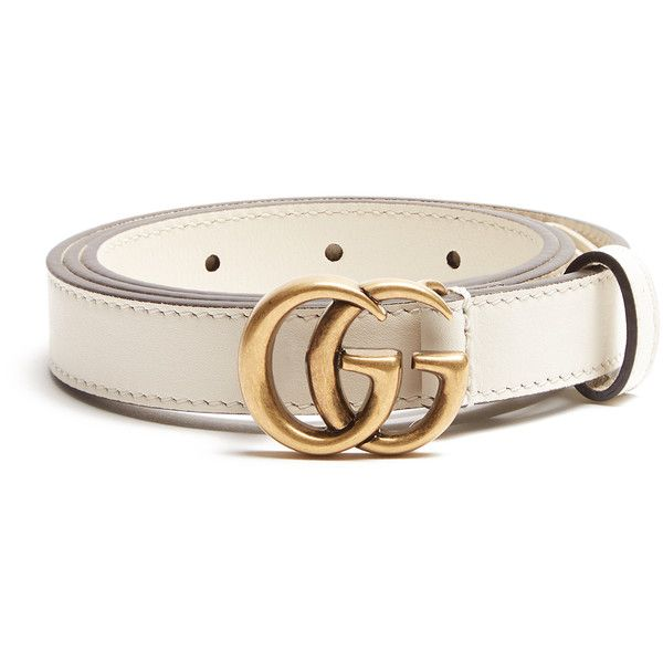 dec221cfcc7 Gucci GG-logo 2cm leather belt ( 330) ❤ liked on Polyvore featuring  accessories