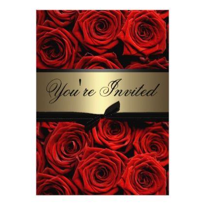 Red Roses Graduation Party Invitation | Zazzle.com
