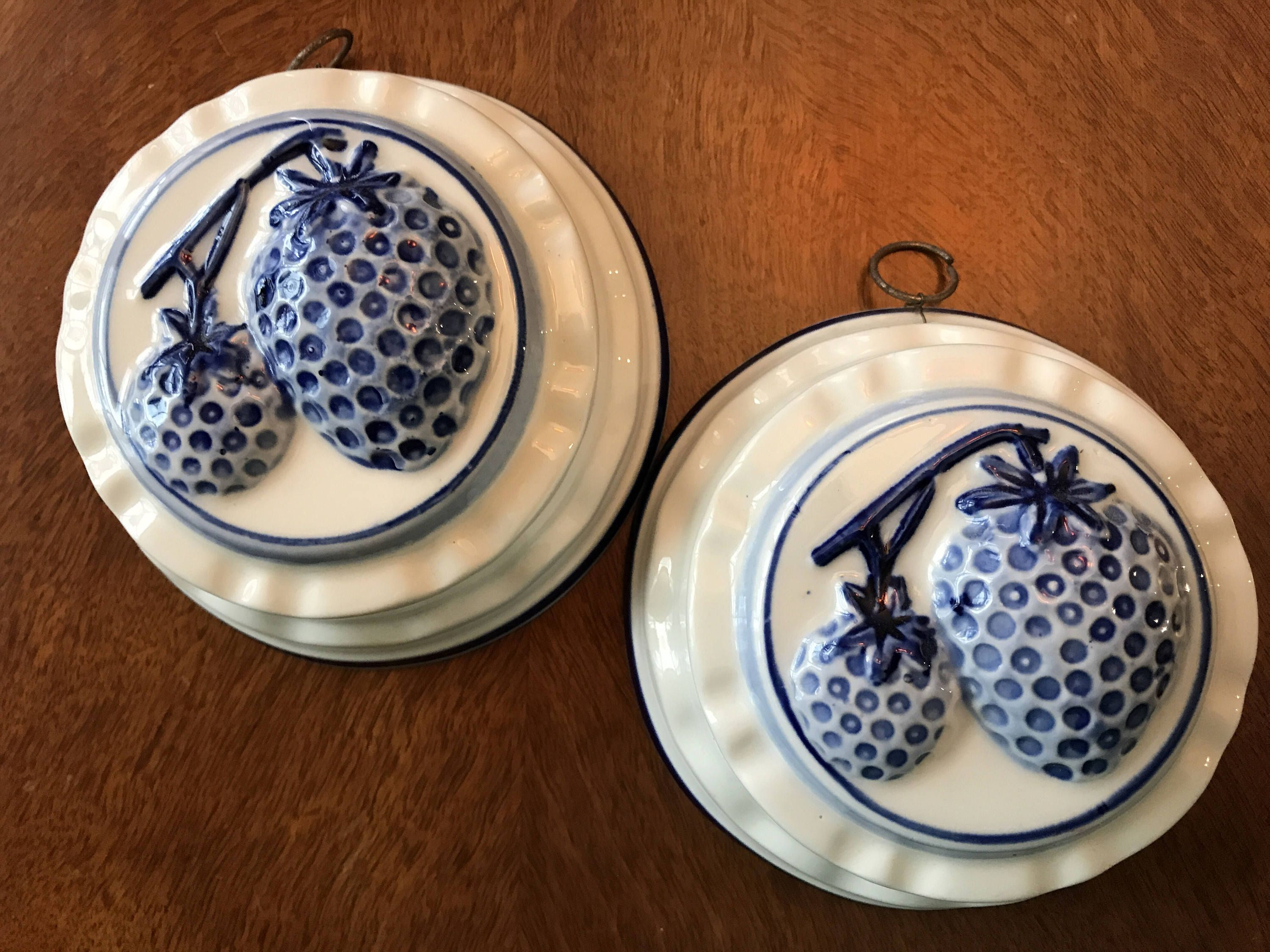 Delft Blue Strawberry Wall Hangings/Strawberry Delft Molds ...