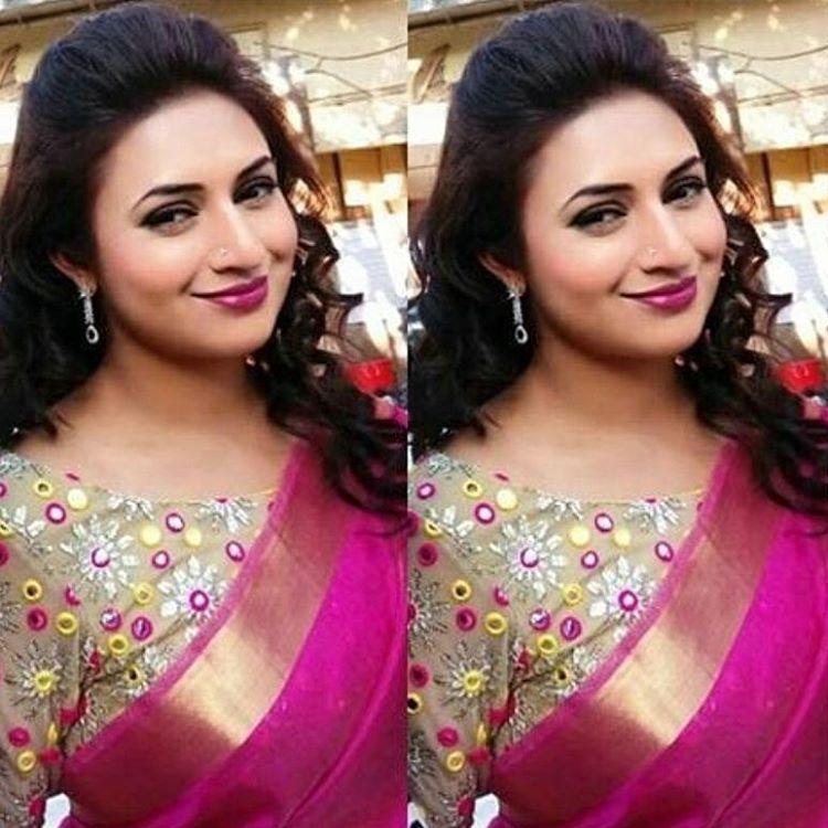 02d6029af56ded Divyanka Tripathi style Pink Saree Blouse, Saree Blouse Designs, Divyanka  Tripathi Saree, Saree