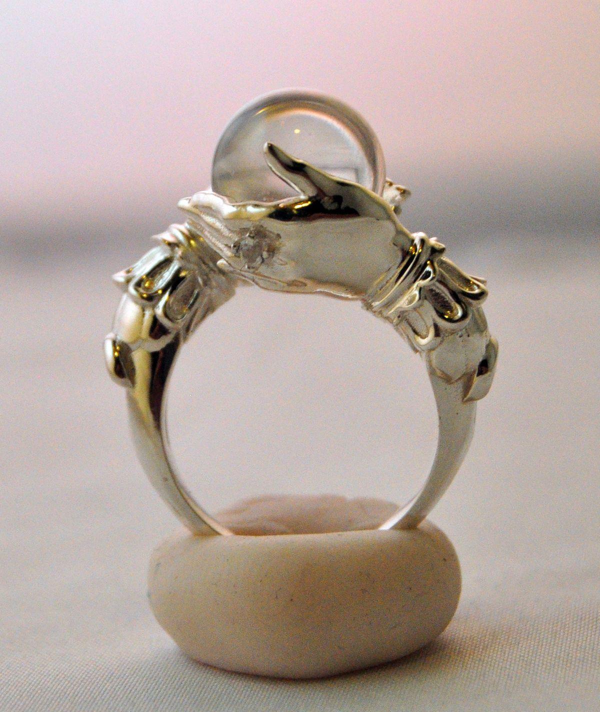d214fb6fa Beautiful crystal ball ring. Beautiful crystal ball ring. Sterling Silver  Rings, Hippie Jewelry, Cute ...