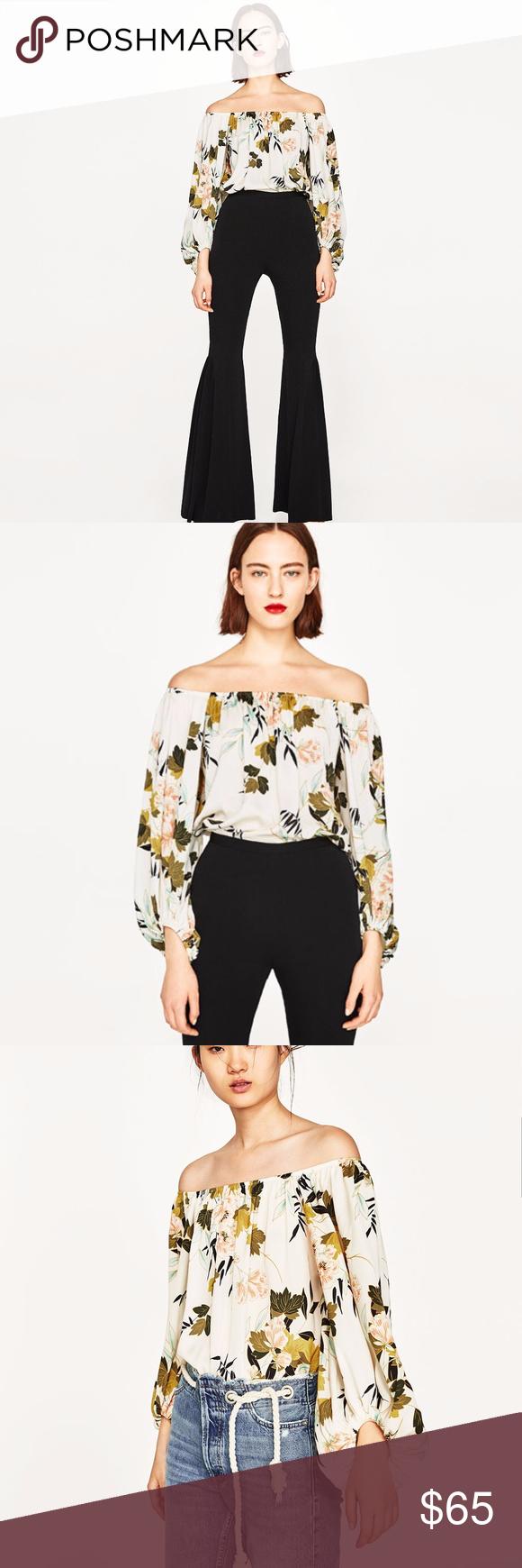 07f6454e Zara Floral Print Bodysuit M medium 5580 New with tag attached & unworn,  Authentic Zara
