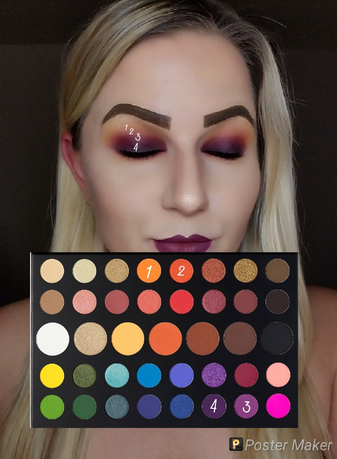Look by numbers using the James Charles palette by morphe