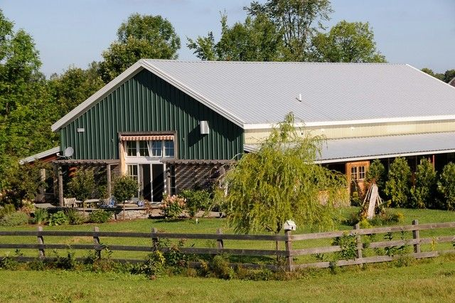 American classics metal barndominium w awesome interior for American barn house floor plans