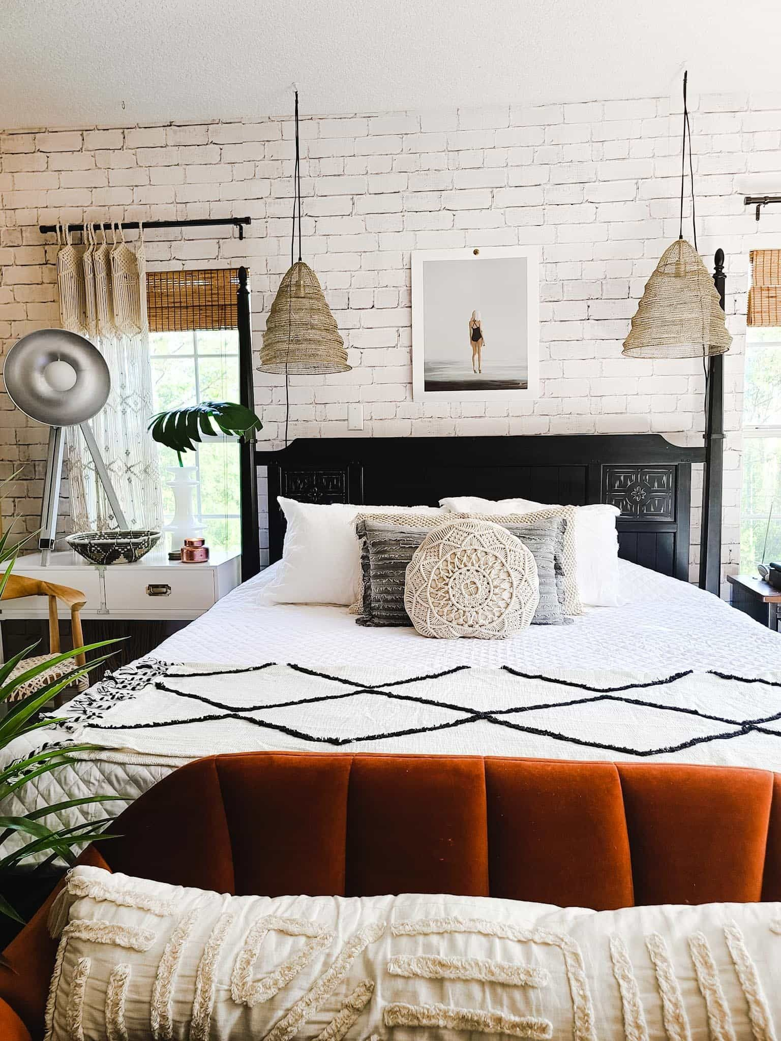 How I gave our Master Bedroom an Industrial Boho Refresh ... on Boho Master Bedroom Ideas  id=67927